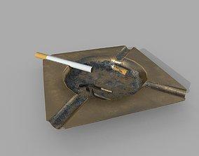 3D model Ashtray and cigarette