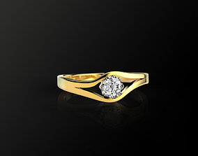 Engagement Ring 3D model low-poly