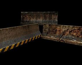 Concrete barriers 3D asset