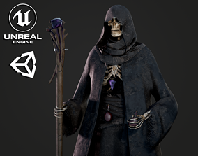 Skeleton Mage - Game Ready 3D model