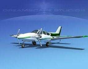 3D Beechcraft B55 Baron V09