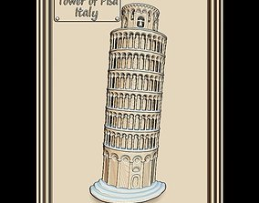 3D model Leaning Tower of Pisa Panno STL File for CNC 1