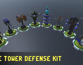 Simple Tower Defense Kit 3D asset