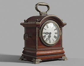 Antique clock 3D model low-poly