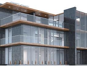 3 Floor Office Building 3D