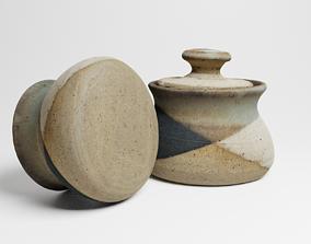 Vintage Ceramic Sugar Jar 3d scan PBR