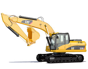 3D model Hydraulic Excavator material