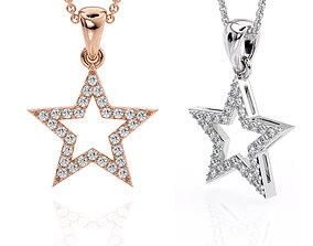 Jewelry Pendant Star 3D Printable model