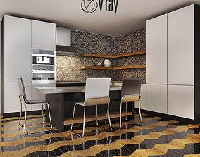 3D model Kitchen Furniture XVII