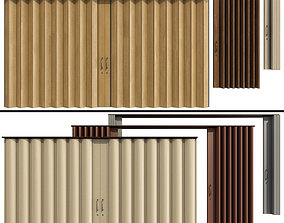 Sliding Partition made of wood and PVC 3D model