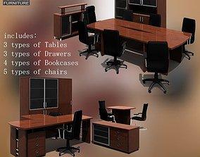 Office Set conference 3D model realtime