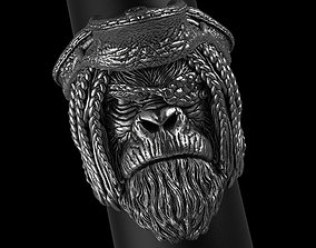 Pirate monkey vol2 ring jewelry 3D print model animal