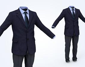 Business Suit Man 3D asset VR / AR ready