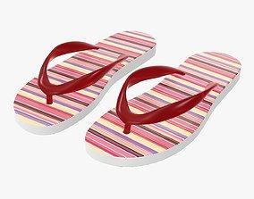 Flip-flops woman summer beach footwear 02 3D
