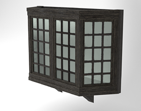Medieval Bay Window Glass and Wood 3D Model low-poly