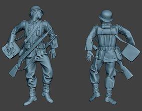 German soldier ww2 Killed G6 3D printable model