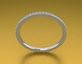 3D printable model Thin Style Infinity Diamond Band Ring 4