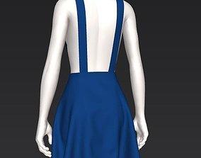 3D asset Girl skirt