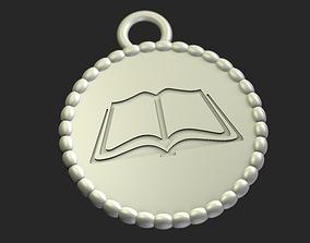 Kids Reading Reward Medal 3D printable model easy