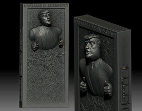 Trump carbonite freezing 3D printable