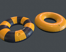 Inflatable Ring PBR Game Ready 3D asset