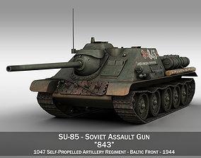 SU-85 - 843 - Soviet Self-Propelled Gun 3D model