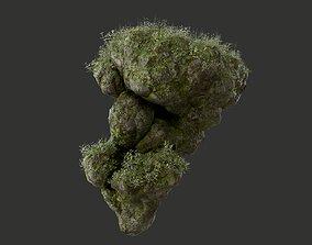 HD Floating Mossy Rock 07 191205 3D model