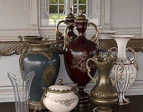3D model Rococo Vases Iray