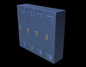 School Locker Set 3D model