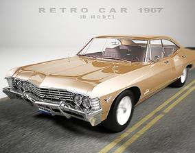 Retro Car of 1967 3D model