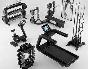 Equipment Gym 2 bicycle 3D model