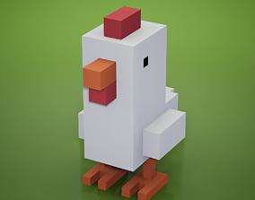 3D asset Voxel - Chicken