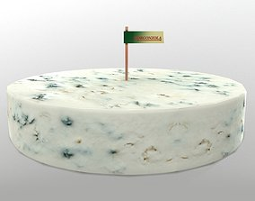 Gorgonzola Cheese 3D asset