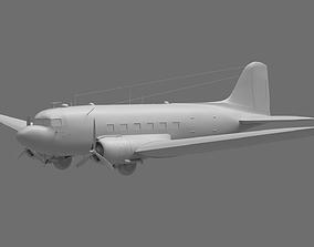 DC-3 Aeroplane 3D