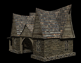House fantasy 3D asset game-ready