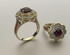 3D printable model white Engagement ring