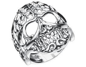 3D print model Ring 025 skull