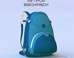 Simple Backpack 3D model napsack