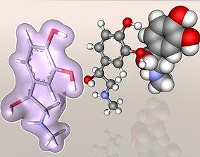 Adrenaline molecule 3D
