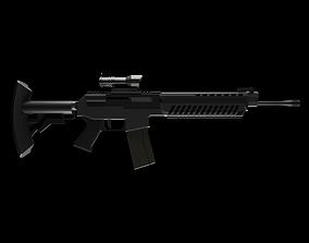 SG 553 Low-Poly 3D model