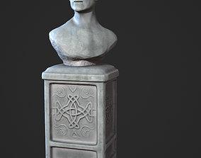 Faun statue PBR asset game-ready
