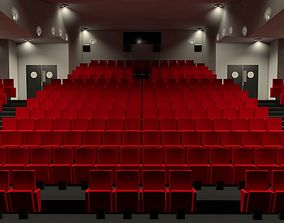3D Movie theater interior