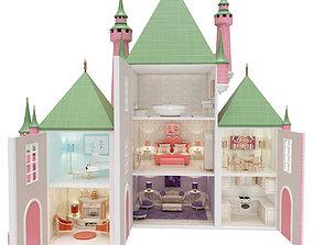Castle Dollhouse princesses 3D model