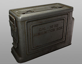 3D model game-ready ammo box cal30 m2