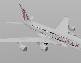 3D model qatar airways a380-800