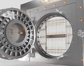 3D model BANK VAULT DOOR Animated