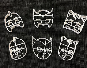 Cookie Cutter Pj Mask Six Pack 3D print model
