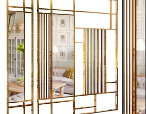 Decorative partition set 22 3D
