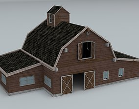 3D asset low-poly Farm house