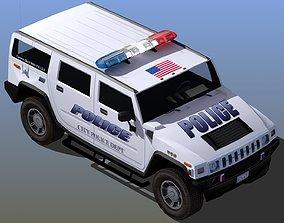 Police SUV Patrol Car 3D model